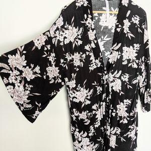 Spiritual Gangster Floral Kimono Beach Coverup